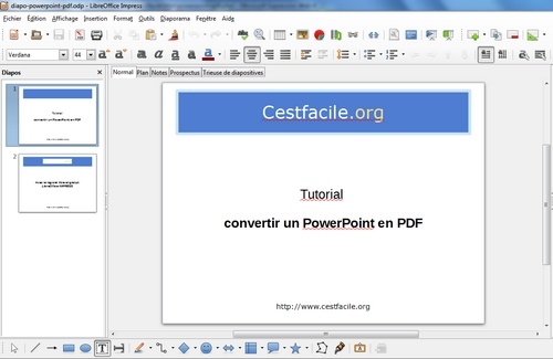 Peut on transformer un powerpoint en pdf